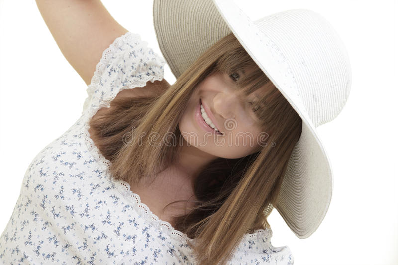 Download Woman wearing a hat stock image. Image of happy, wellness - 14711973