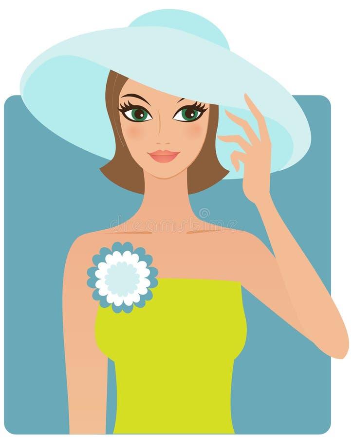 Download Woman wearing hat stock vector. Image of hands, feminine - 25479808