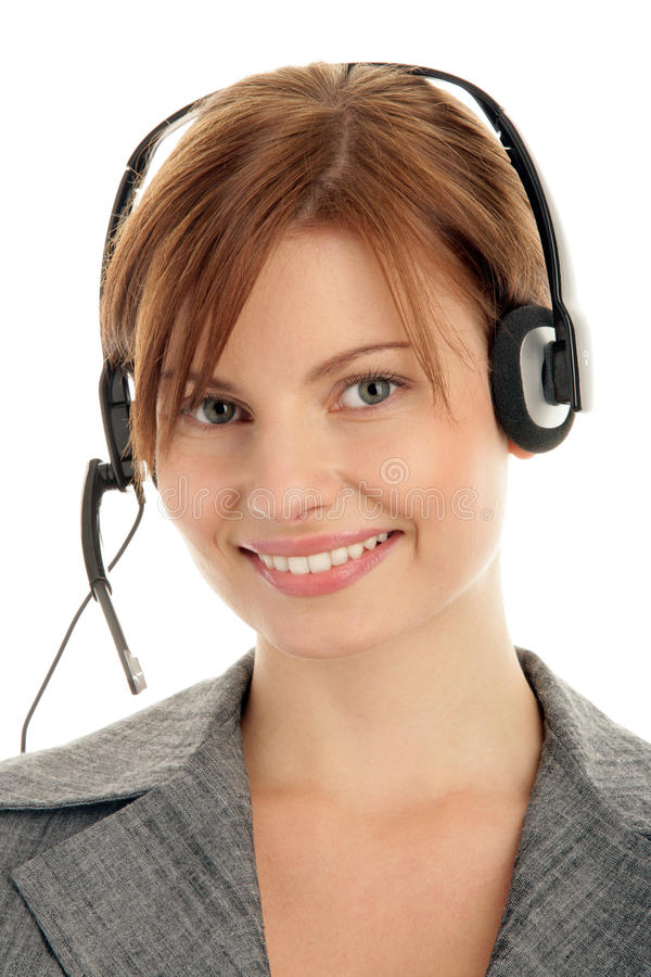 Download Woman Wearing Headset Royalty Free Stock Image - Image: 11133736