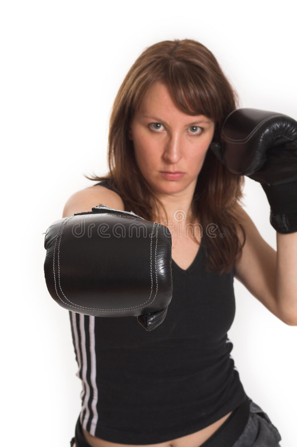 Download Woman Wearing Karate Gloves Royalty Free Stock Image - Image: 2251896
