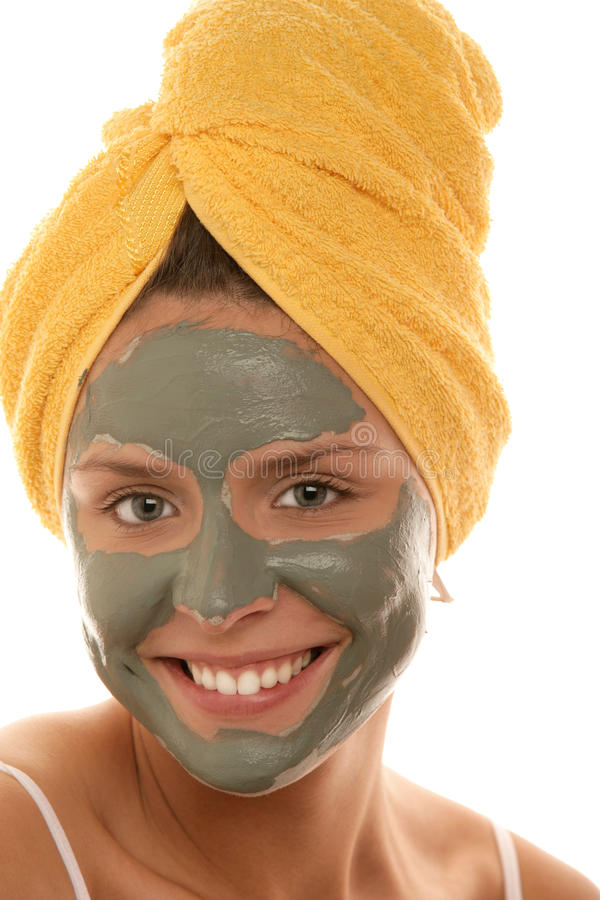 Woman wearing mask royalty free stock photography