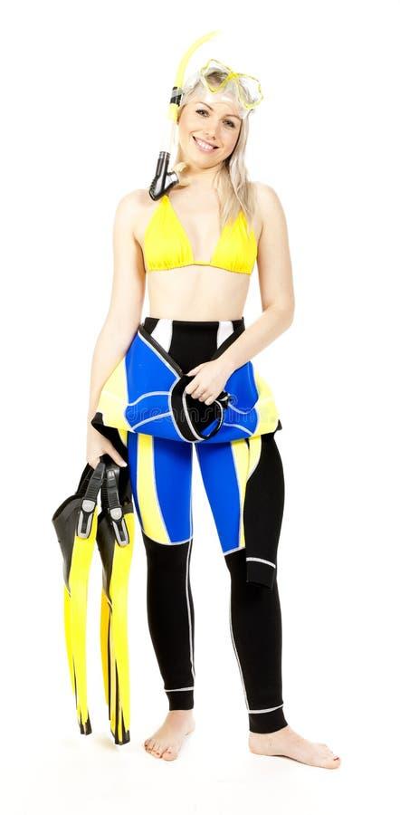 Download Woman wearing neoprene stock photo. Image of smiling - 21982020