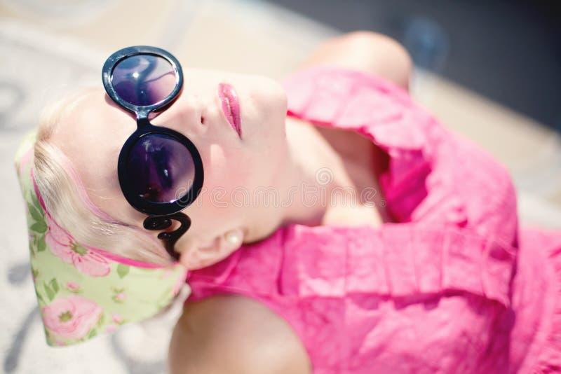 Woman Wearing Pink Shirt And Sunglass Free Public Domain Cc0 Image