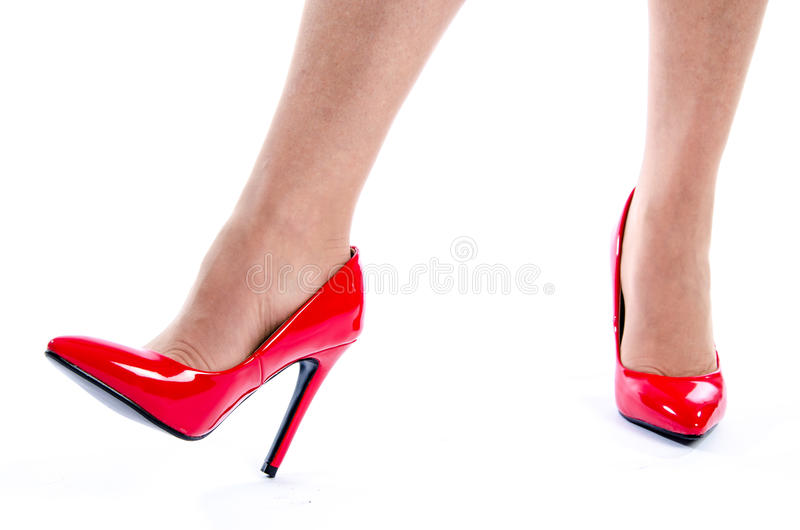 woman wearing red high heel shoes stock photo image of