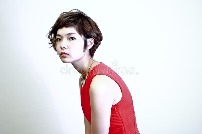 Woman Wearing Red Sleeveless Top Free Public Domain Cc0 Image