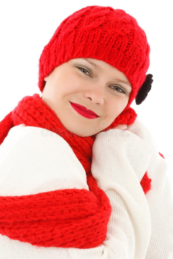 Woman Wearing Red Snow Cap Free Public Domain Cc0 Image