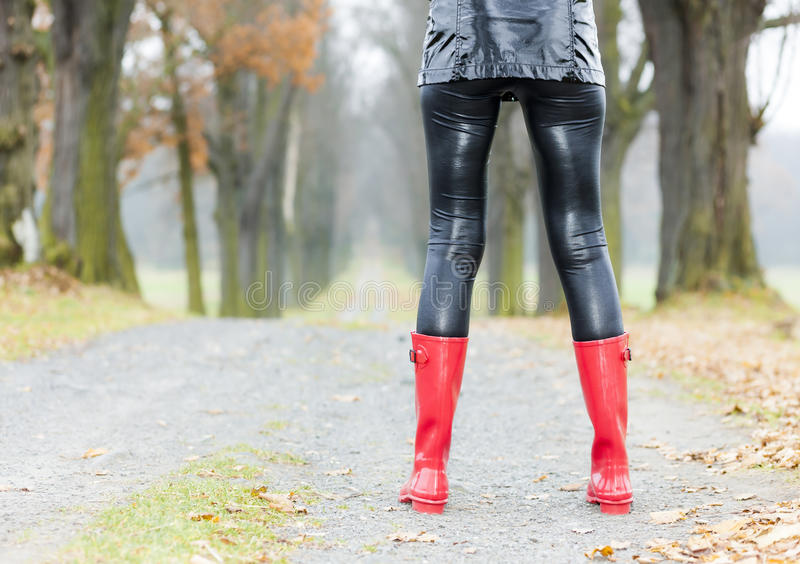 Download Woman wearing rubber boots stock photo. Image of standing - 27010256