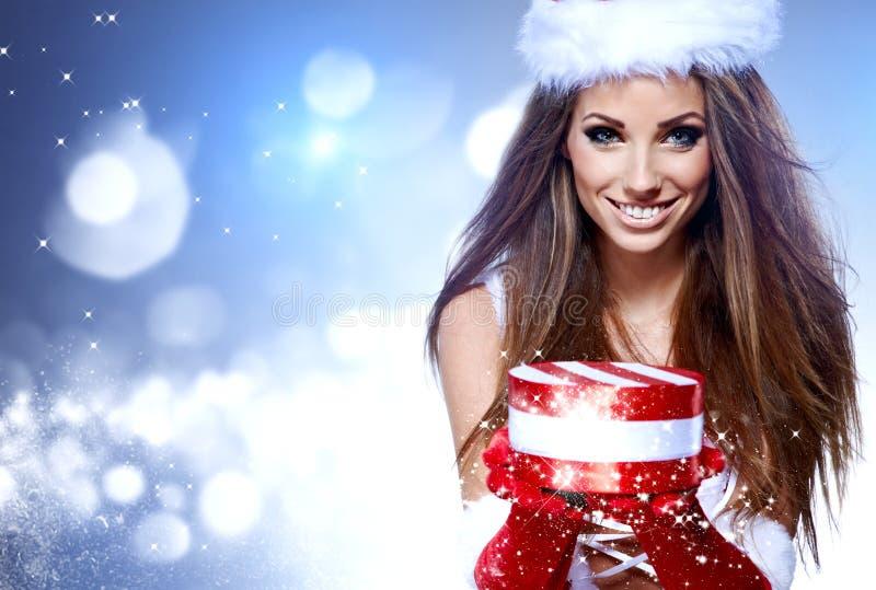 Download Woman Wearing Santa Claus Clothes Stock Image - Image: 27808053