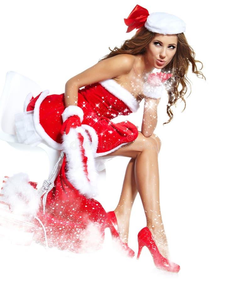 Download Woman Wearing Santa Claus Clothes Stock Photo - Image: 27808096