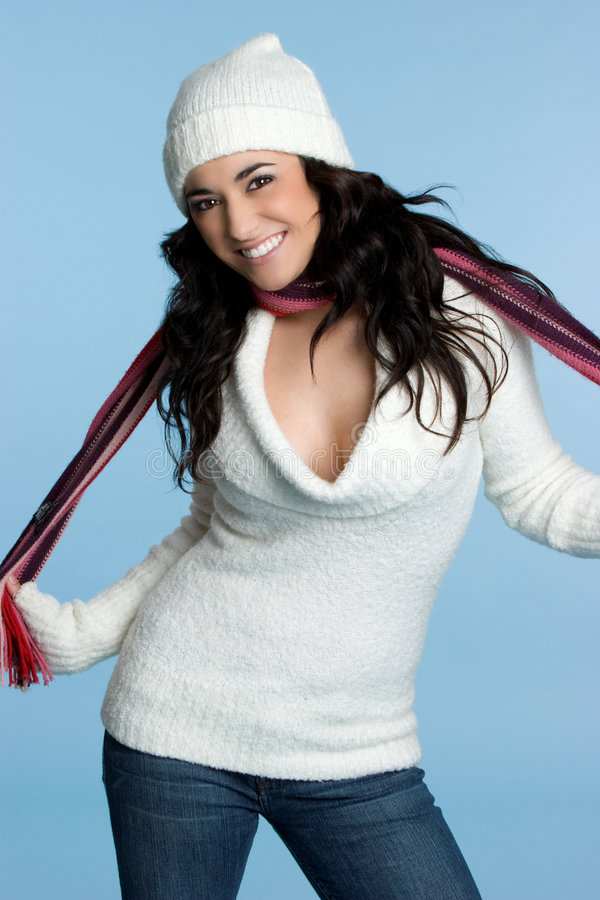 Woman Wearing Scarf Royalty Free Stock Images