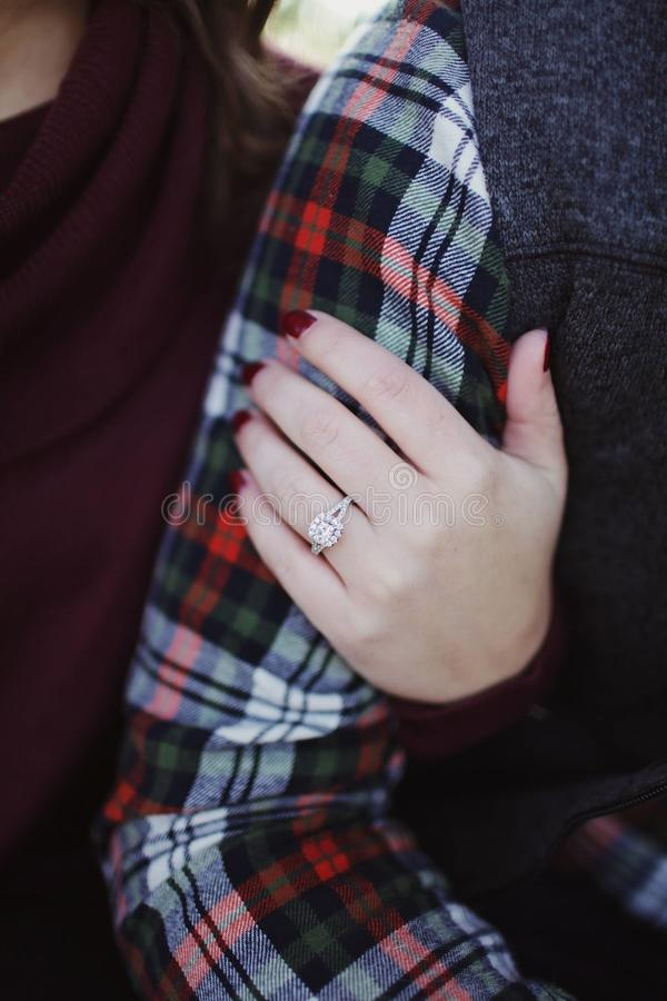 Woman Wearing Silver-colored Solitaire Ring Holding Person's Arm Free Public Domain Cc0 Image