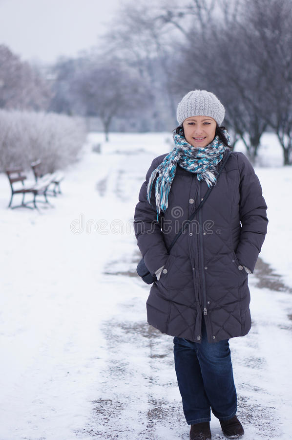 Download Woman Wearing Warm Clothes Royalty Free Stock Image - Image: 28100836