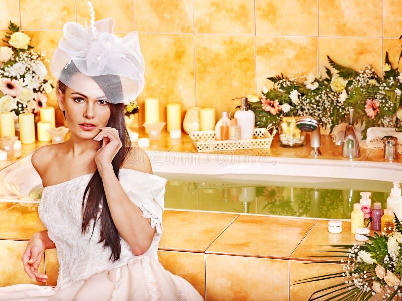 Download Woman Wearing Wedding Dress. Stock Image - Image: 28880675