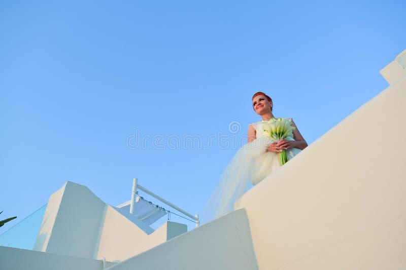 Woman in wedding dress royalty free stock photos