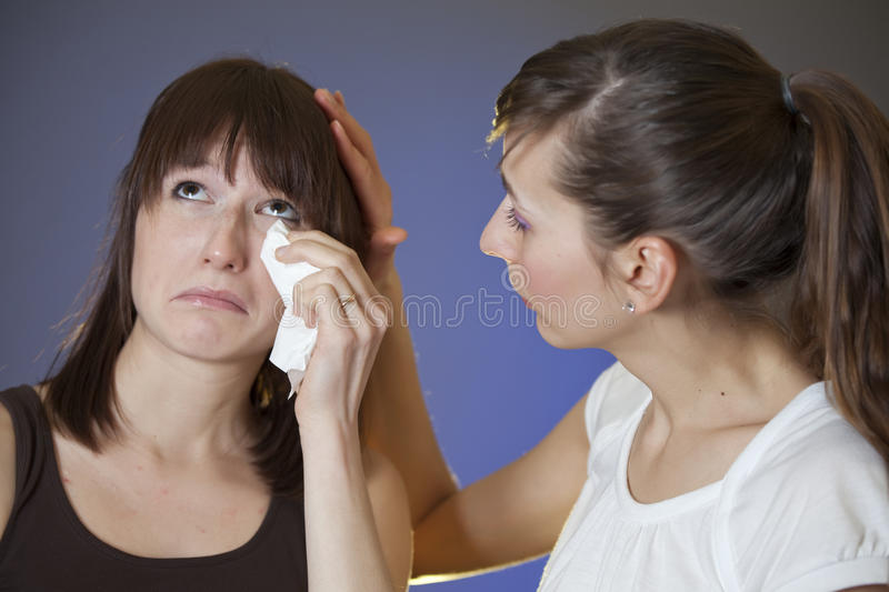Woman Weeping Stock Photo