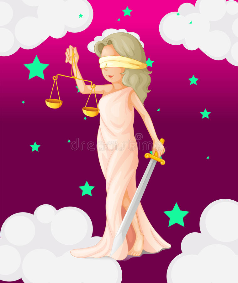 Download A Woman With A Weighing Scale And A Sword Stock Vector - Image: 33693638