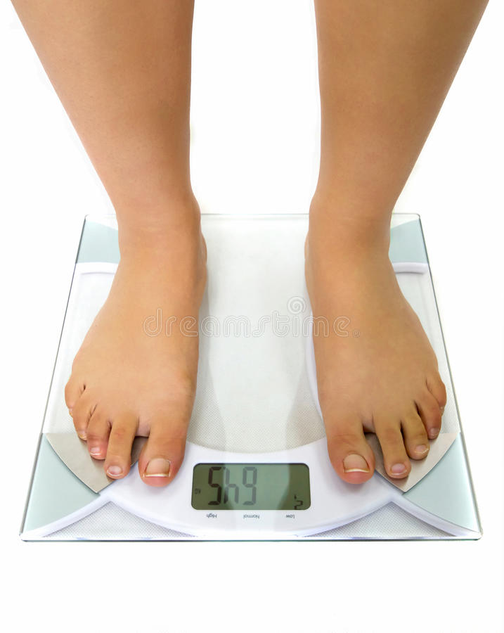 Download Woman On The Weight Scale Stock Photo - Image: 19569540