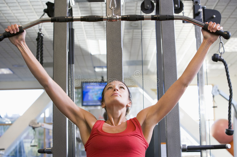 Download Woman Weight Training At Gym Stock Image - Image: 7230907
