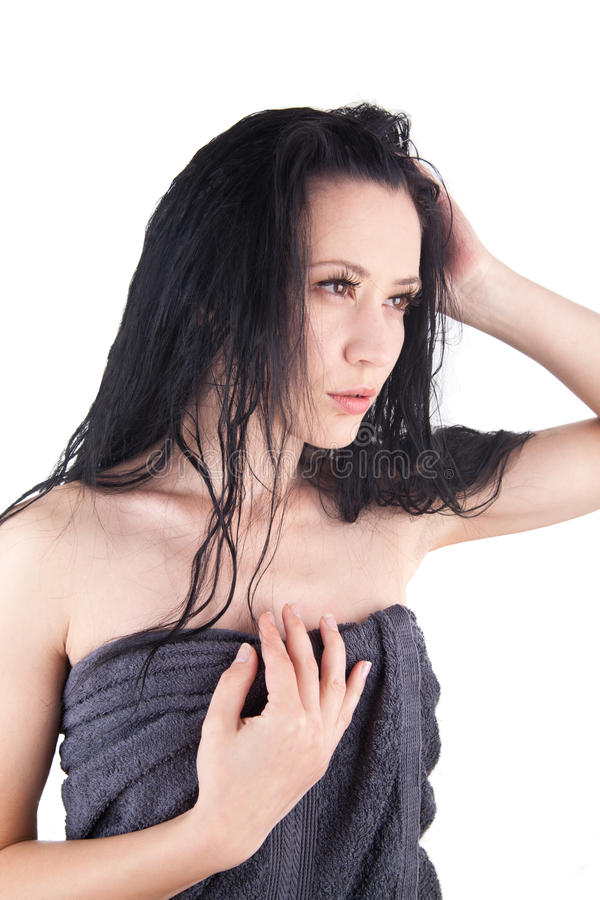 Download Woman With Wet Hair Royalty Free Stock Images - Image: 26258089