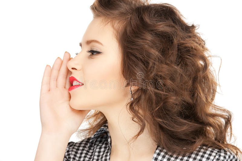 Download Woman Whispering Gossip Stock Photo - Image: 22027210
