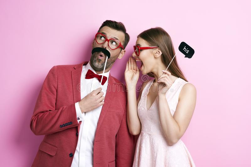 That`s a secret! royalty free stock photography