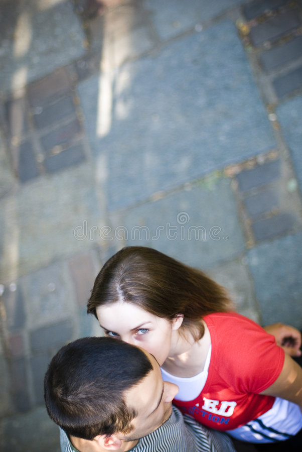 Woman whispering secrets stock photos