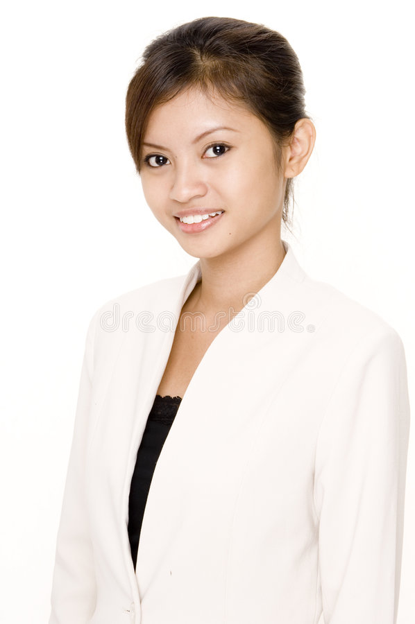 Woman In White 3 Royalty Free Stock Image