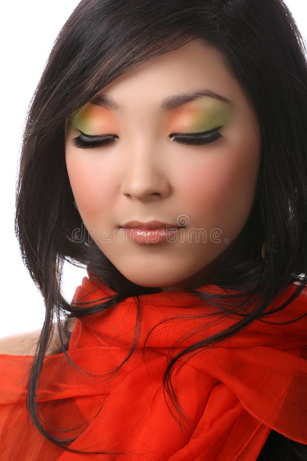 Download Woman on white stock photo. Image of cosmetics, female - 8629422