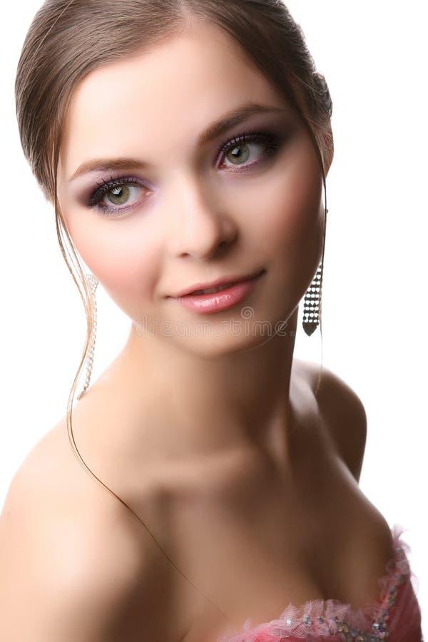 Woman on white royalty free stock image