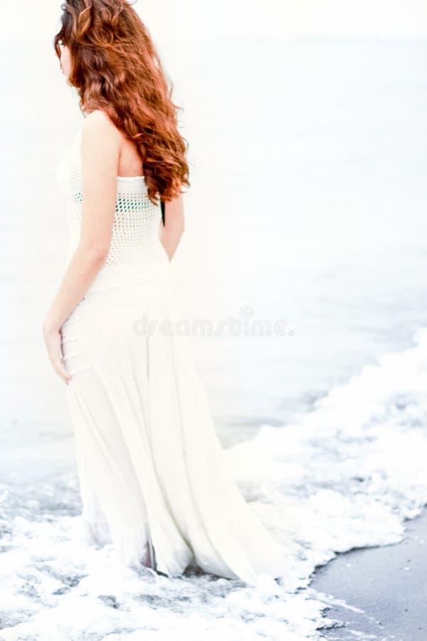 Woman In White Dress On Beach Free Public Domain Cc0 Image