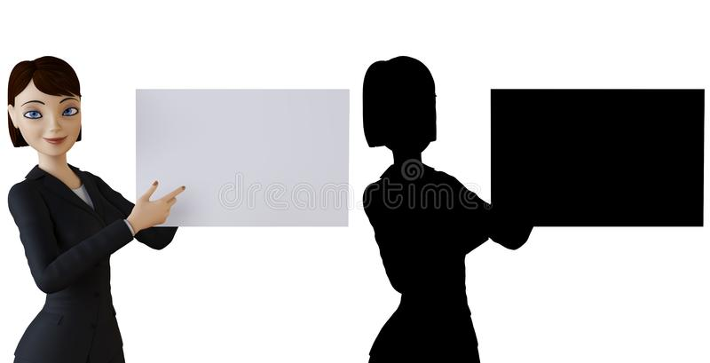 Woman and white panel