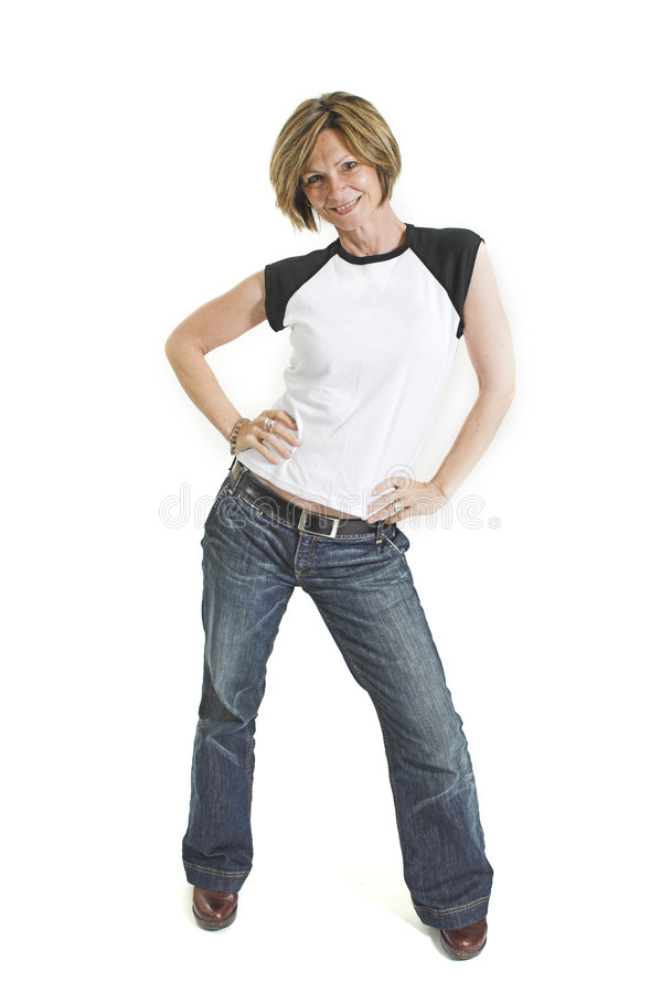 Download Woman with white t-shirt stock photo. Image of modern - 1417734