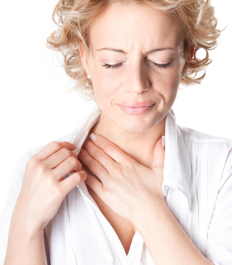 Download Woman who has chest pain stock image. Image of stress - 22533101