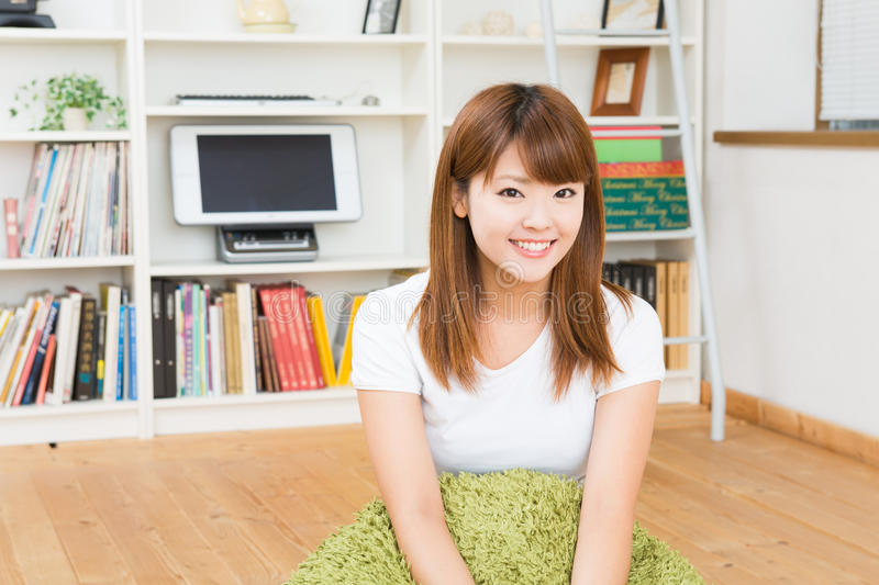 Download Woman who is relaxed stock image. Image of room, floor - 28039201