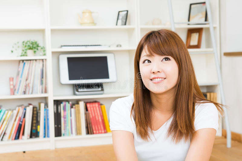 Download Woman who is relaxed stock photo. Image of furniture - 28039210