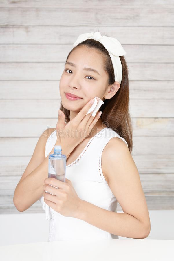 Attractive Asian woman royalty free stock photography