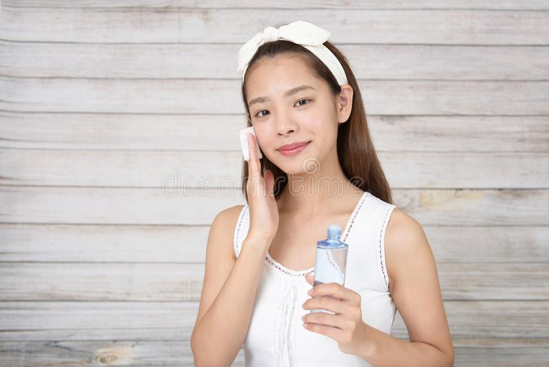 Attractive Asian woman royalty free stock image