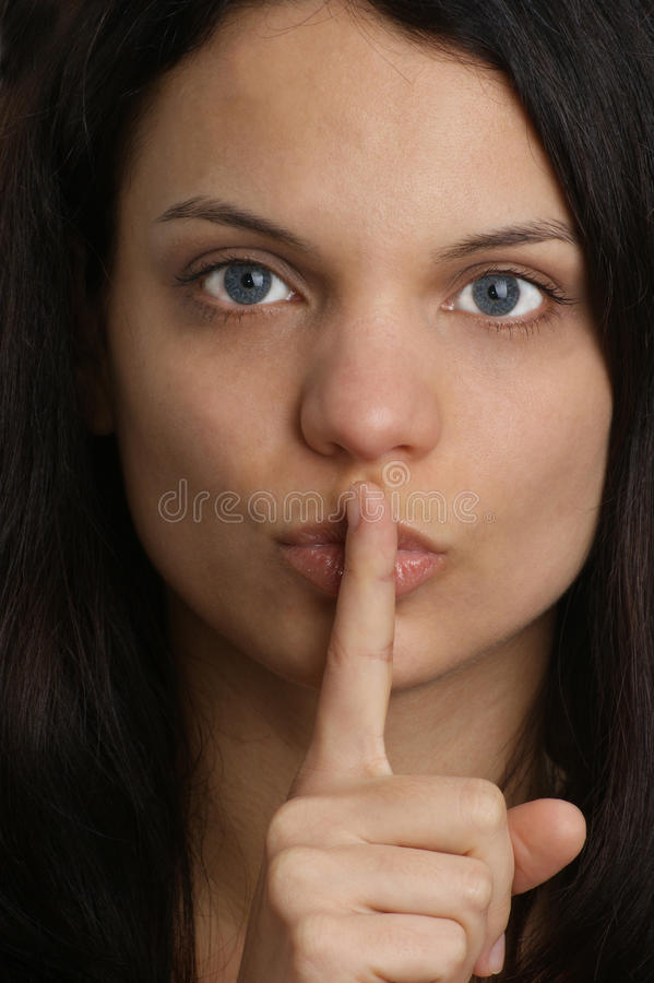 Download Woman Will Not Speak At The Moment Royalty Free Stock Photo - Image: 16152325