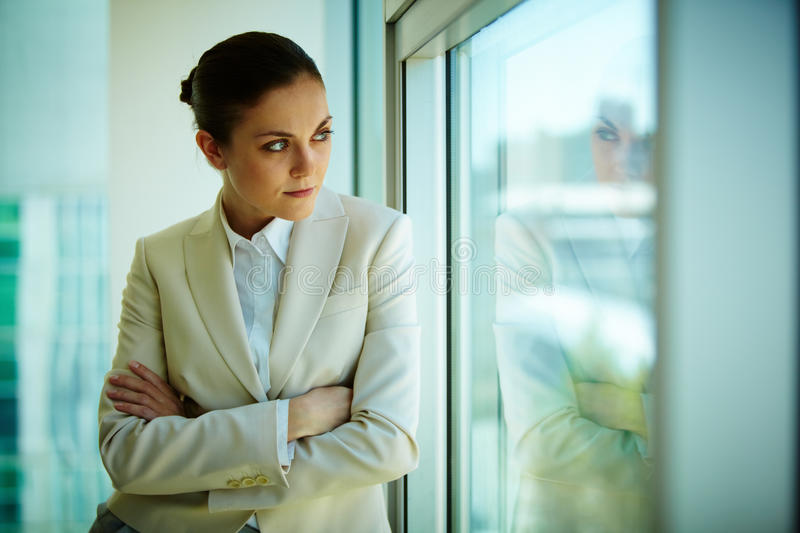 Download Woman by the window stock image. Image of corporate, female - 24739299