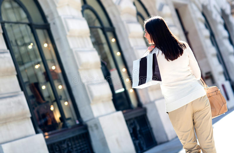 Download Woman window shopping stock photo. Image of looking, customer - 26599058