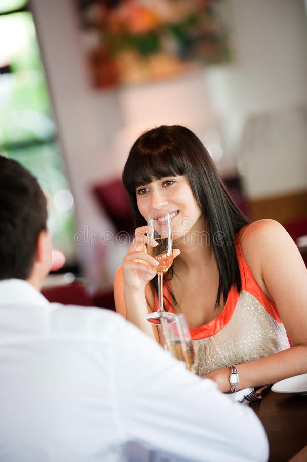 Download Woman with Wine stock image. Image of attractive, date - 12198663