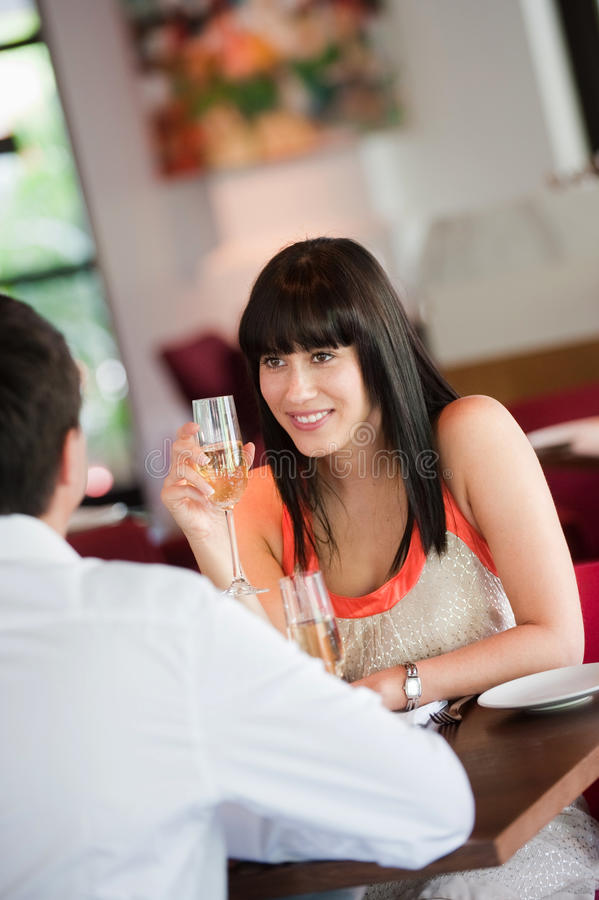 Woman with Wine royalty free stock image