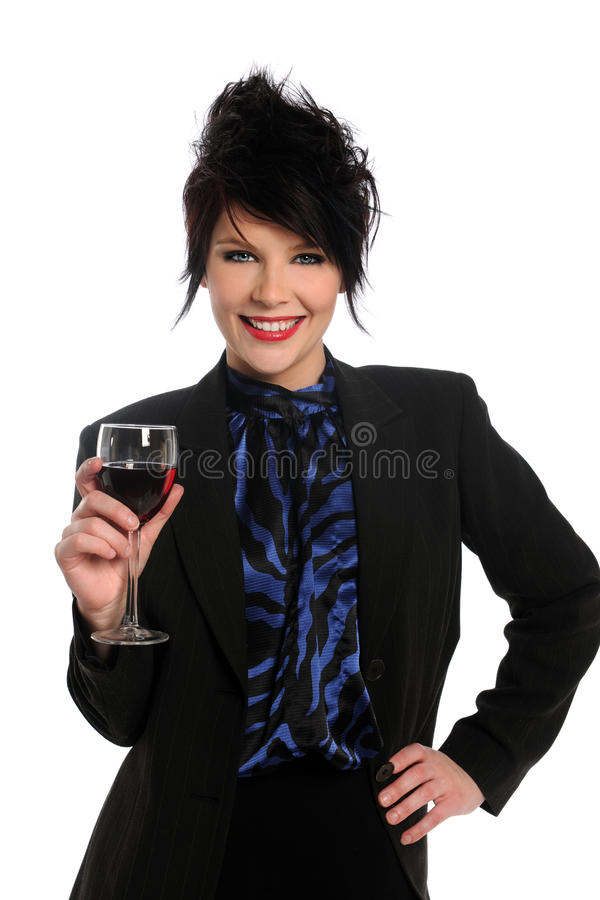 Woman With Wine Glassq royalty free stock photo