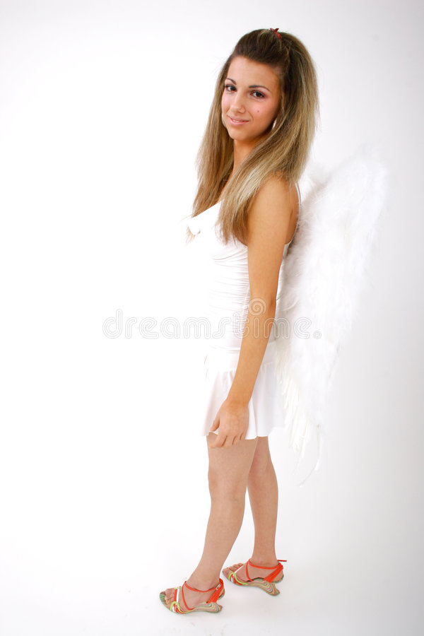 Download Woman With Wings (full-body) 3 Stock Photo - Image of back, pose: 1420262