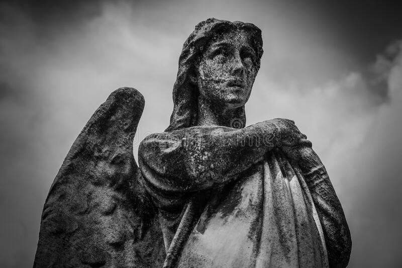 Woman With Wings Statue Grayscale Photo Free Public Domain Cc0 Image
