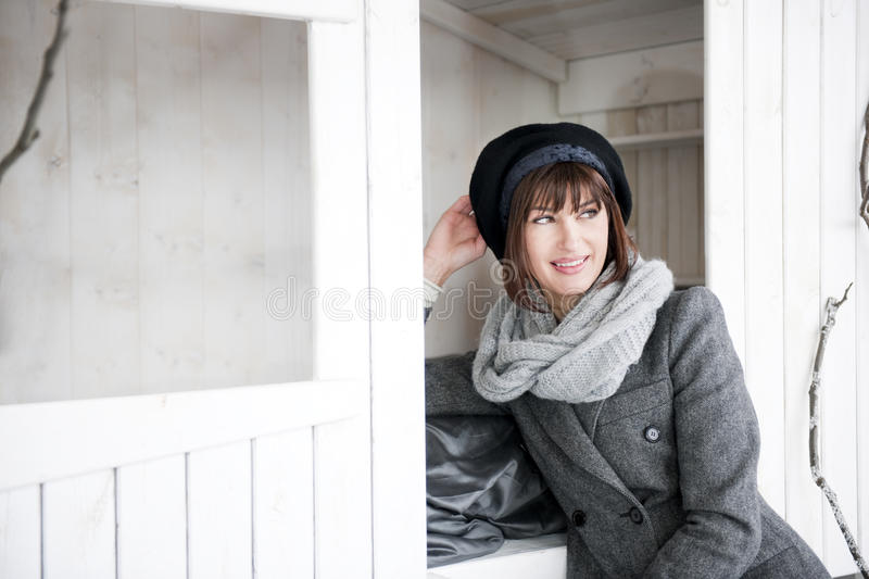 Download Woman In Winter Clothes stock photo. Image of enjoyment - 17804496