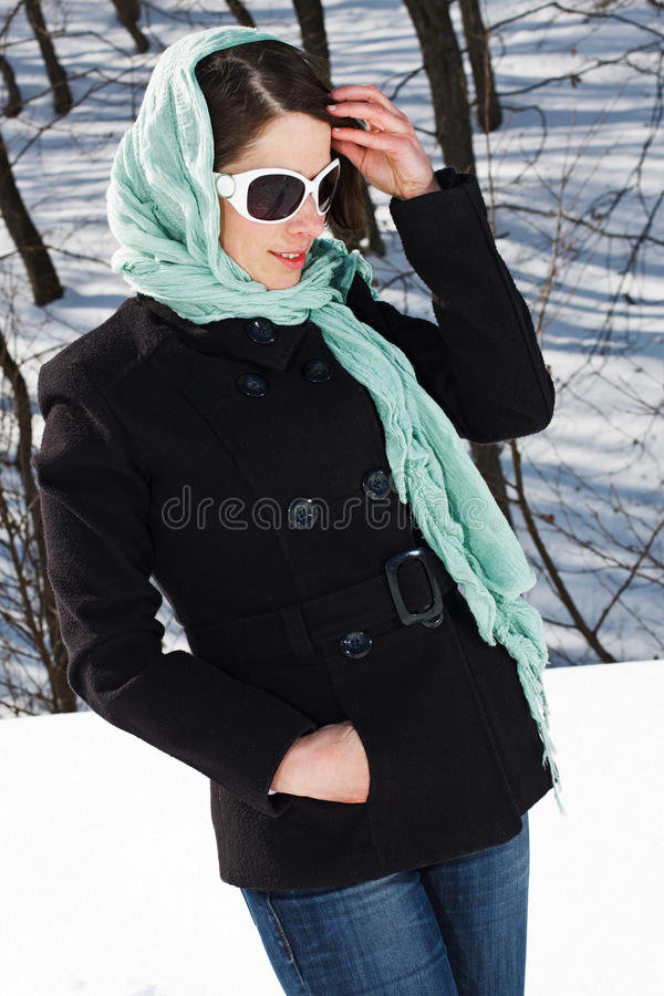 Download Woman in winter forest stock photo. Image of gorgeous - 23658206