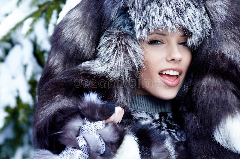 Download Woman in winter park stock image. Image of person, female - 18067523