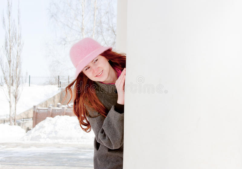 Download Woman Is In Winter In A Park Stock Image - Image: 19521037