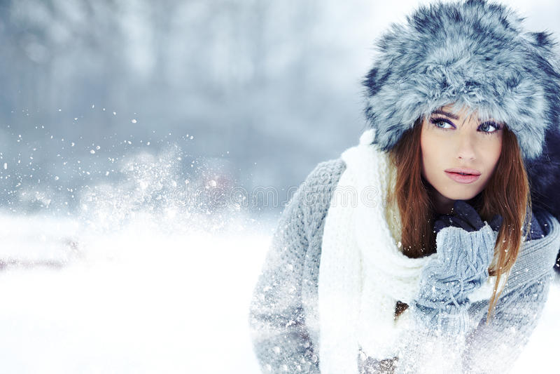 Download Woman Winter Portrait. Shallow Dof. Stock Image - Image: 28304321